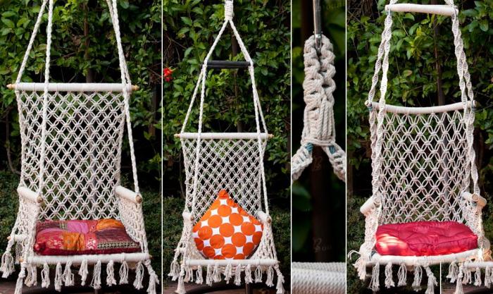 Садовые качели макраме. \ Фото: prakard.com.