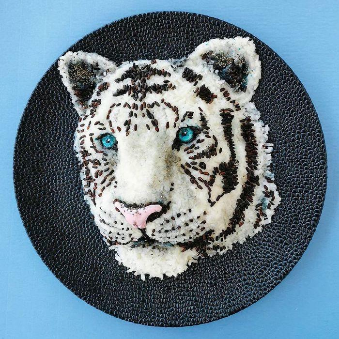 Белый тигр. \ Фото: twitter.com.