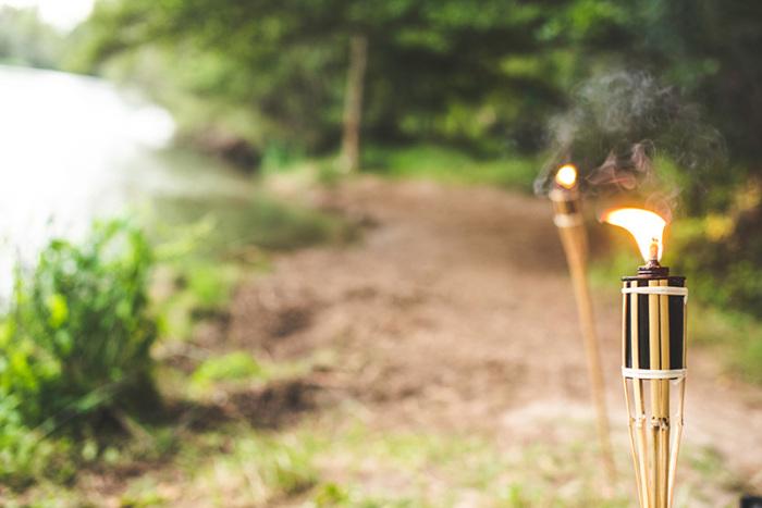 Бамбуковые факелы.