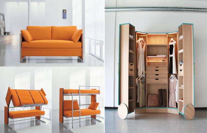 Мебель-трансформер в интерьере.