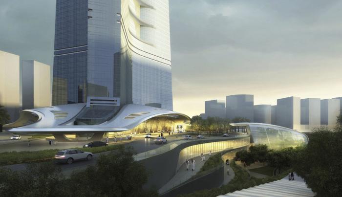 В здании 12 эскалаторов и 59 лифтов с 5 лифтами, являющимися двухэтажными.