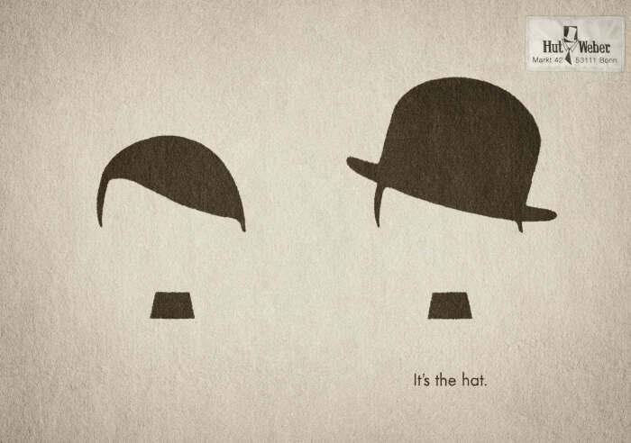 Смелое дополнение от компании, которая продаёт шляпы: Гитлер VS Чарли Чаплин. \ rashvin.com.