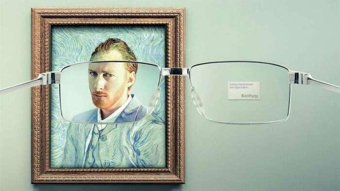 Французская компания Keloptic демонстрирует, что с их очками вы четко увидите даже картины импрессионистов. \ Фото: fastcompany.com.
