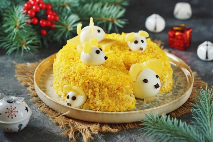 Очаровательные мышки к праздничному столу. \ Фото: segodnya.ua.