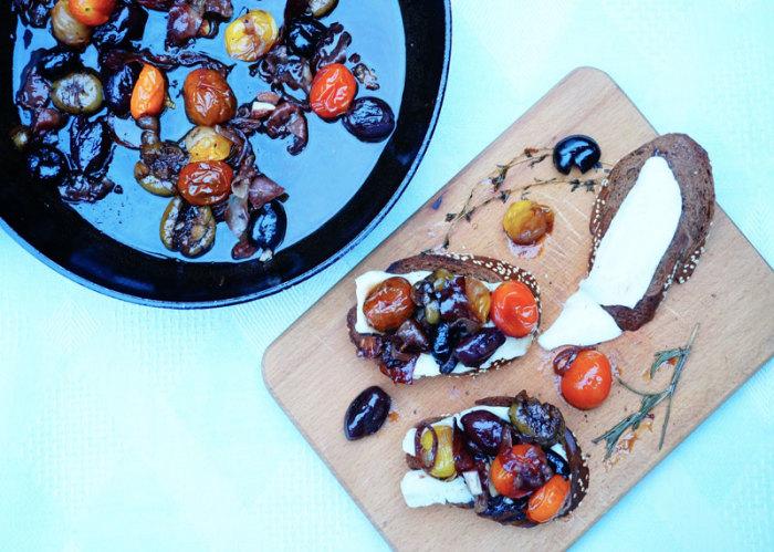 Пикантная закуска из жареных оливок. \ Фото: recept-2u.com.ua.