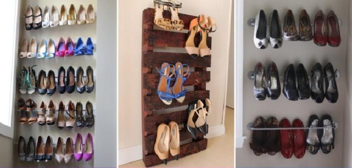 Специальные натяжные стержни для хранения обуви. \ Фото: ecopoliticalecon.com.