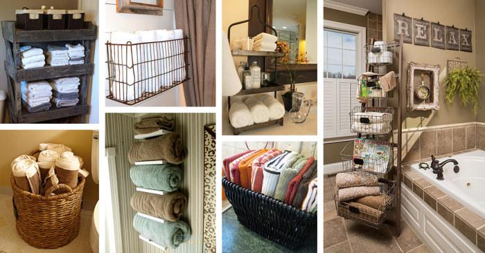 Храните правильно полотенца. \ Фото: homebnc.com.