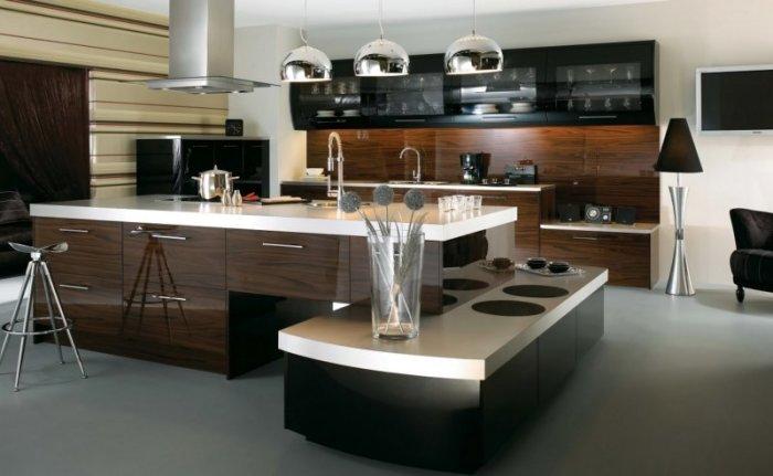 Коричневая кухня. \ Фото: dizajnadvice.ru.