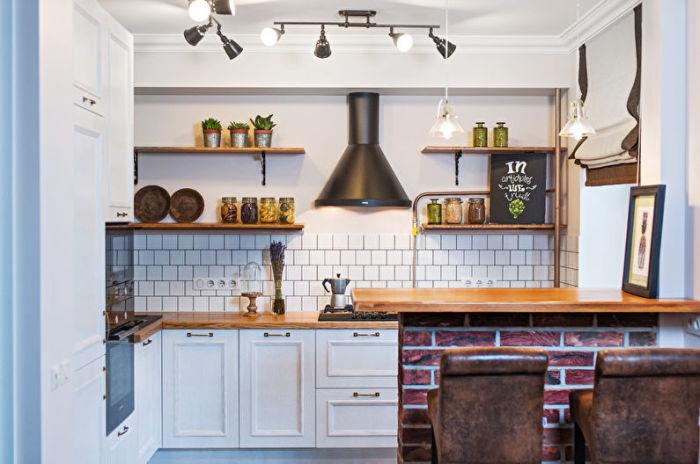 Идеи дизайна маленькой кухни. \ Фото: trizio.ru.