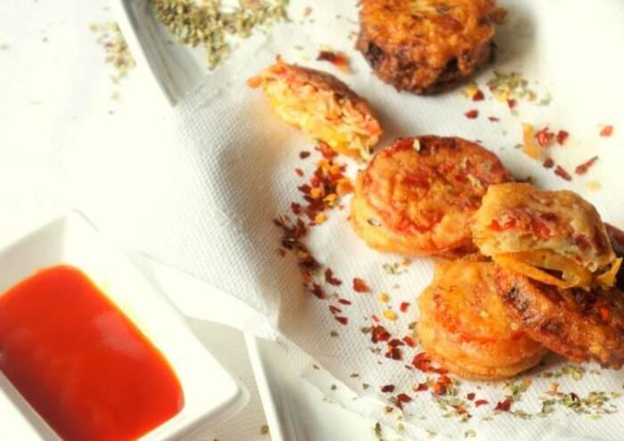 Закуска из помидоров в сырном кляре. \ Фото: cookpad.com.