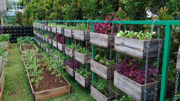 Подвесные кашпо для овощей.