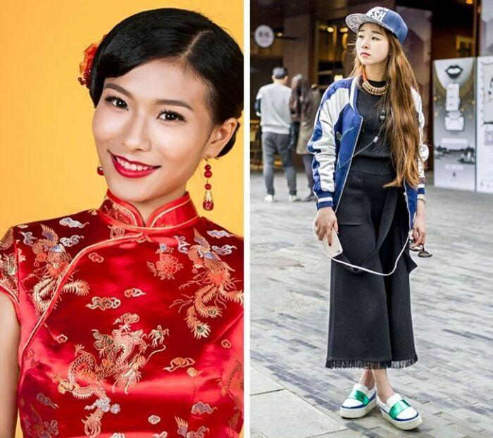 Как одеваются девушки в Китае. \ Фото: yandex.ua.