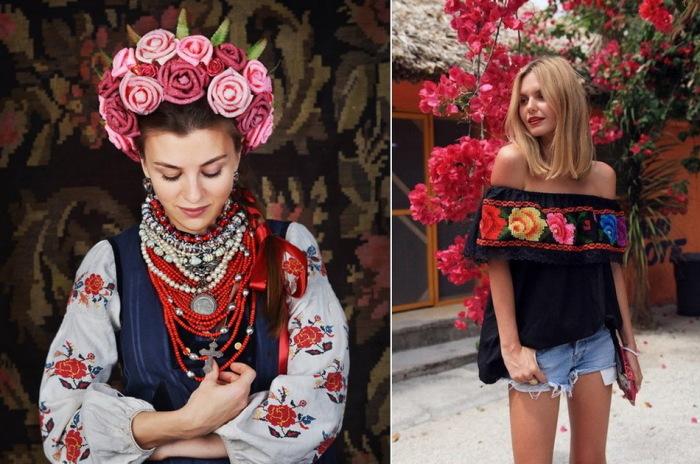 Как одеваются женщины в Украине. \ Фото: twitter.com.