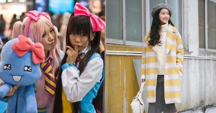 Японские модницы. \ Фото: shnyagi.net.