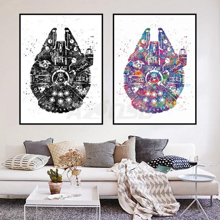 Акварельные постеры в стиле «Звёздных войн».