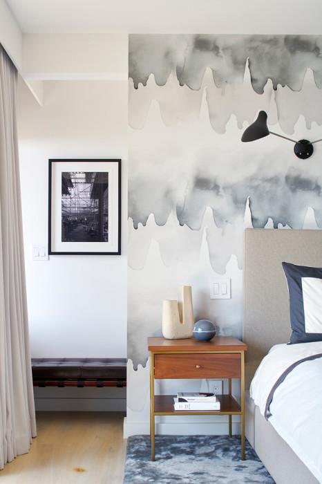 Акварельная стена - прозрачный намёк на хороший вкус.
