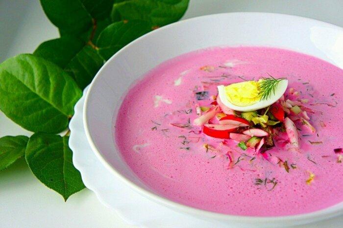 Свекольный суп с яблоками. \ Фото: google.com.