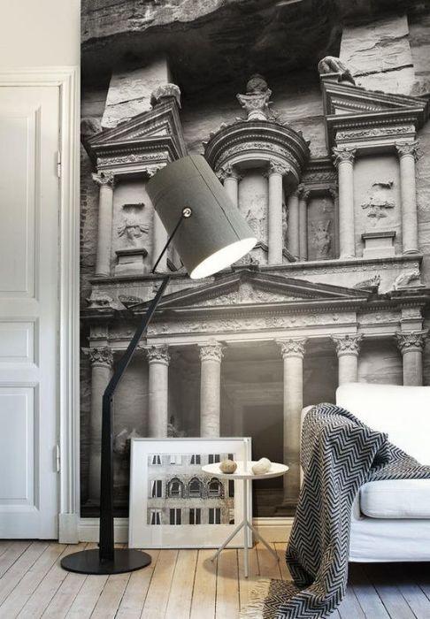 Объёмные фотообои с архитектурой подарят ощущение перемещения во времени.