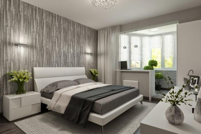 В малогабаритных квартирах многие владельцы объединяют комнату и балкон.