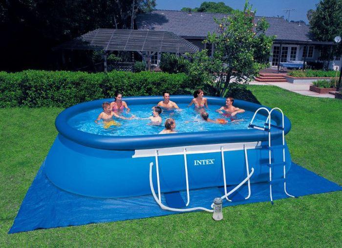 Надувной бассейн из ПВХ-плёнки.