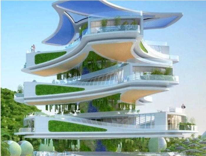 Каждый элемент этого здания будет вращаться, вырабатывая энергию.