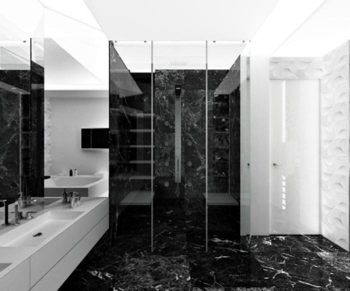 Мраморные традиции - идеальный вариант для ванной комнаты.