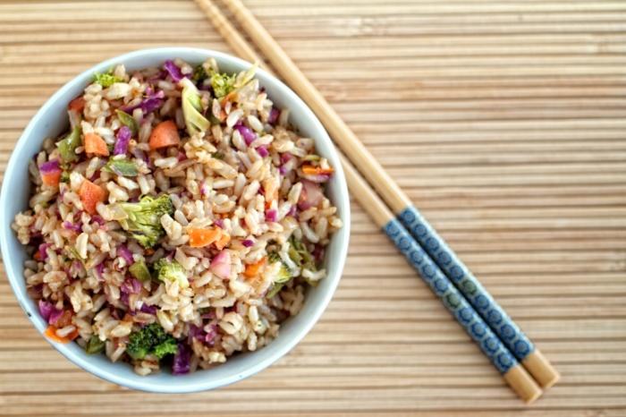 Быстрый, вкусный и полезный рис с овощами.