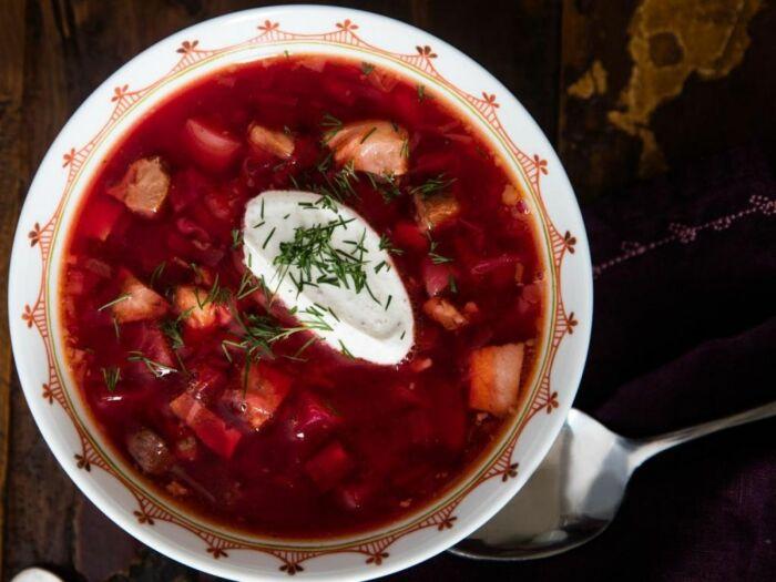 Полтавский борщ. \ Фото: gourmetspirit.cz.