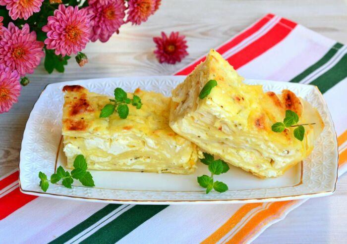 Болгарский пирог с сыром и йогуртом. \ Фото: pinterest.ru.