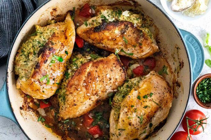 Фаршированное куриное филе. \ Фото: pinterest.com.