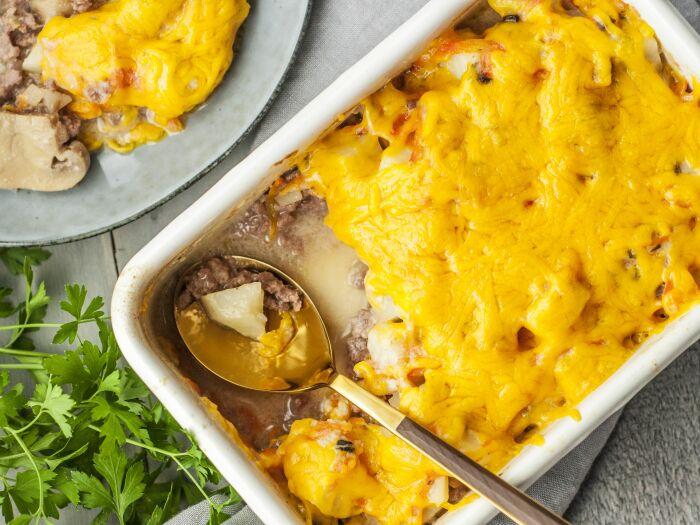 Картофельная запеканка. \ Фото: pinterest.com.