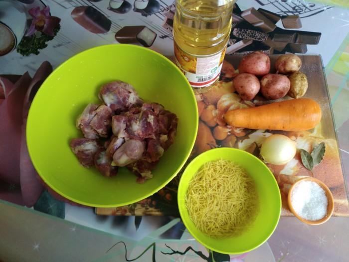 Ингредиенты для приготовления супа. \ Фото: eda-offline.com.