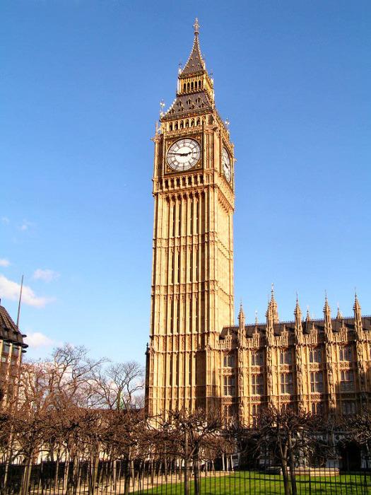 Созданы они были в 1859 году и закреплены с четырёх сторон на Башне Святого Стефана Вестминстерского Дворца в Лондоне, Великобритания.