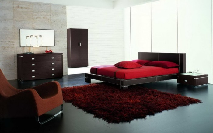Спальня венге тяготеет к минимализму обстановки и сдержанности красок.
