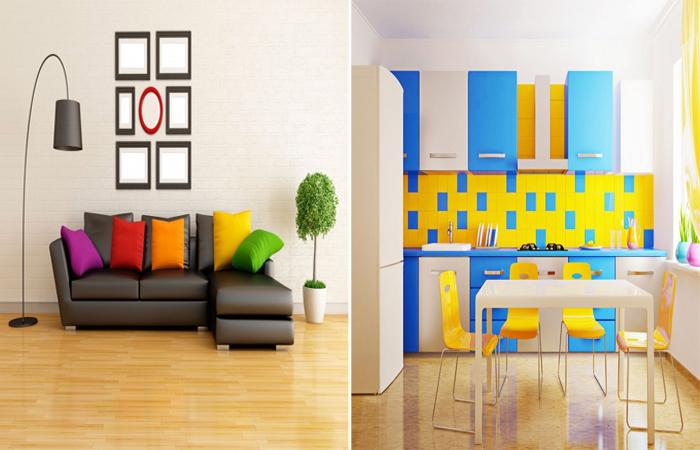 Цвет мебели и цветовое решение в интерьере.