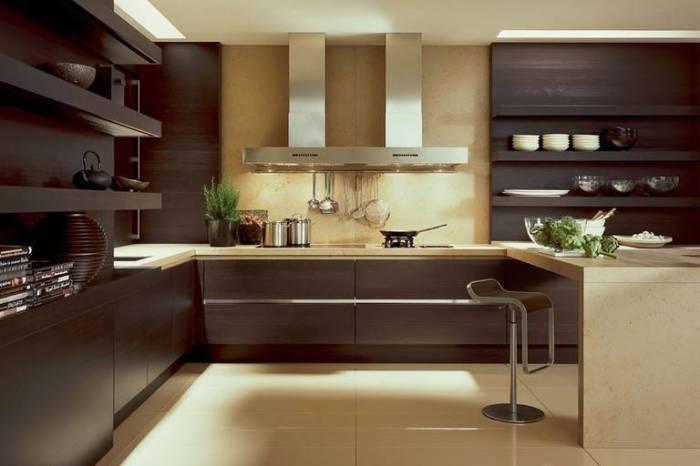 Помните о том, что если у вас коричневая мебель, то пол, непременно, должен быть светлым.