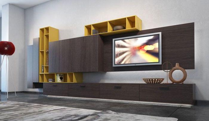 Жёлтый – солнечный цвет. Цвет счастья, лёгкий и воздушный -беспроигрышный выбор для гостиной комнаты.