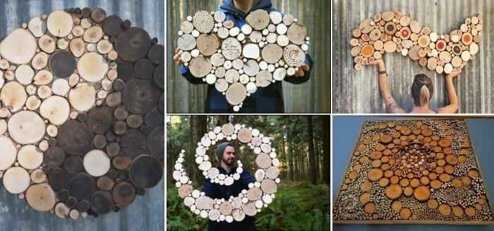 Оригинальные элементы декора из спилов. \ Фото: kolobok.ua.