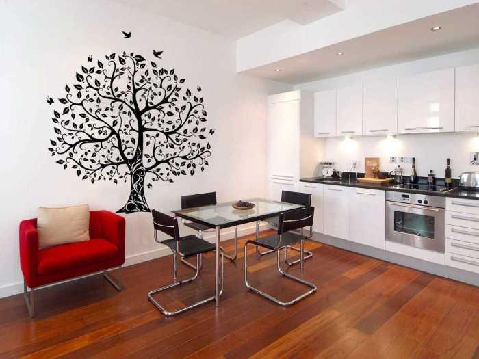 Так же стоит помнить о том, что такие рисунки будут уместны в любой комнате от спальни до кухни.