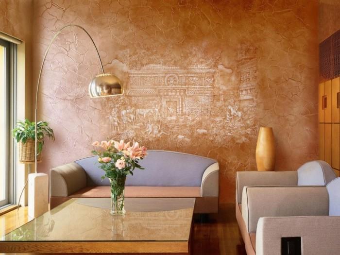 Приглушённые тона и оттенки идеально подойдут для гостиной или зоны отдыха.