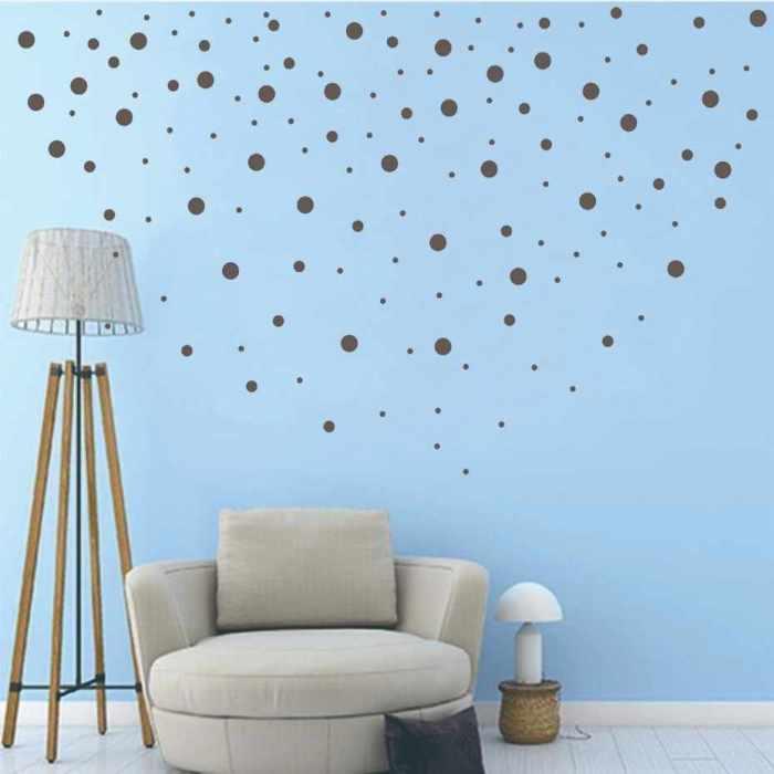 Наклейки-конфетти для декора стен. | Фото: google.com.