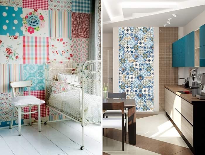 Тканевые панели. \ Фото: dekorin.me.
