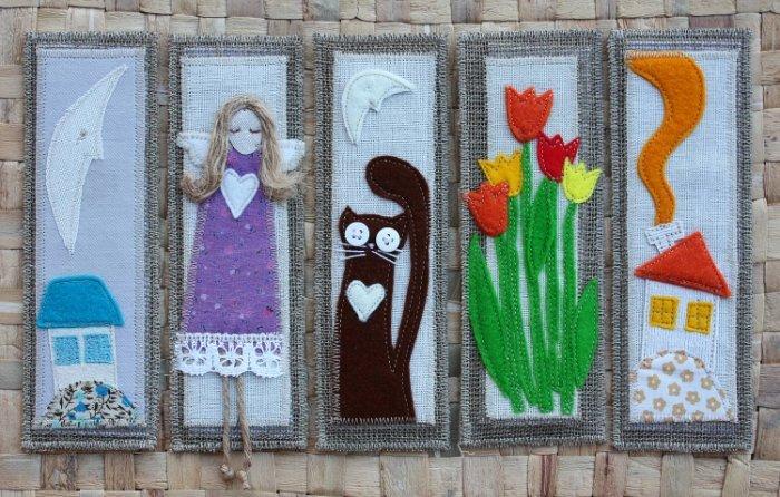 Панно из ткани станет прекрасным элементом декора стен. \ Фото: yandex.com.