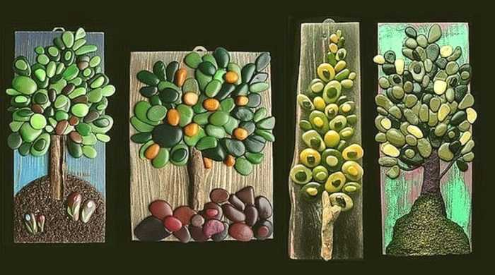 Картины из декоративных камушков.  Фото: 1nerudnyi.ru.