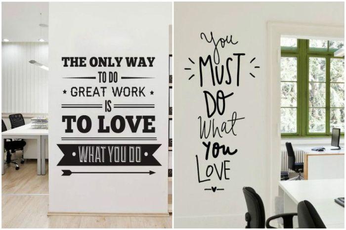 Оригинальные надписи на стене. \ Фото: pinterest.com.