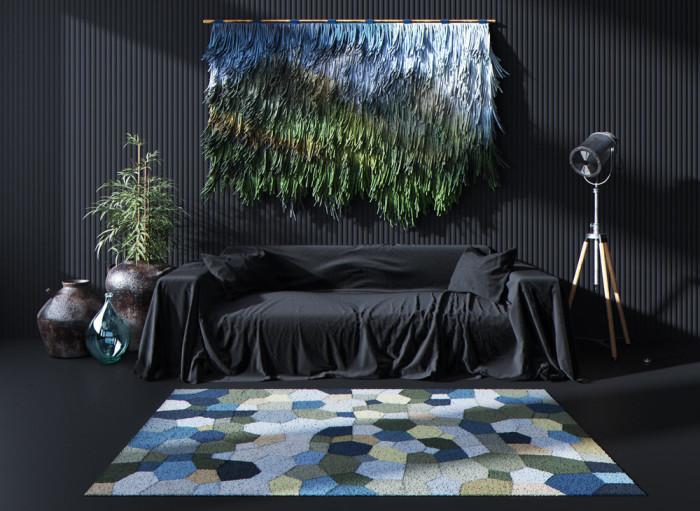Как бы забавно это не звучало, но именно современный ковёр на стене в гостиной может стать прекрасным дополнением интерьера.