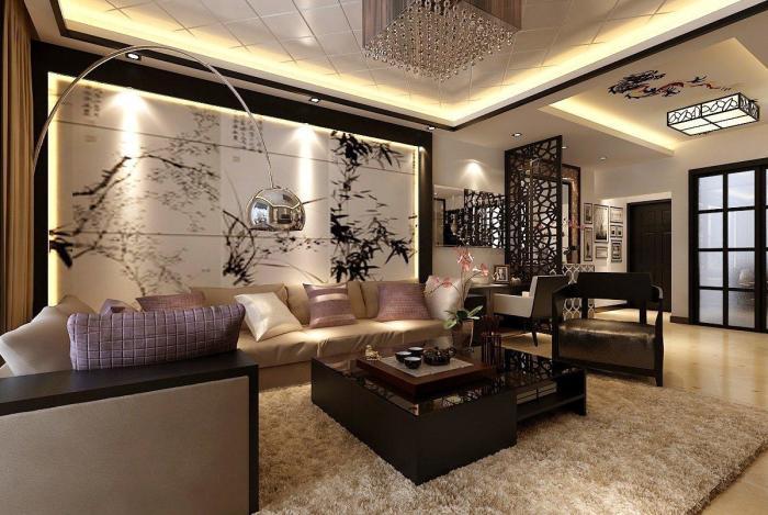 Декорирование стен над диваном – не менее важный элемент.