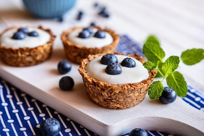 Корзинки с йогуртовой начинкой. \ Фото: pinterest.com.