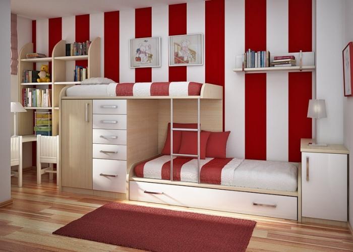 Интерьер детской комнаты для двоих деток.
