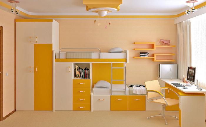 Очень удобная, сочная и уютная детская комната.
